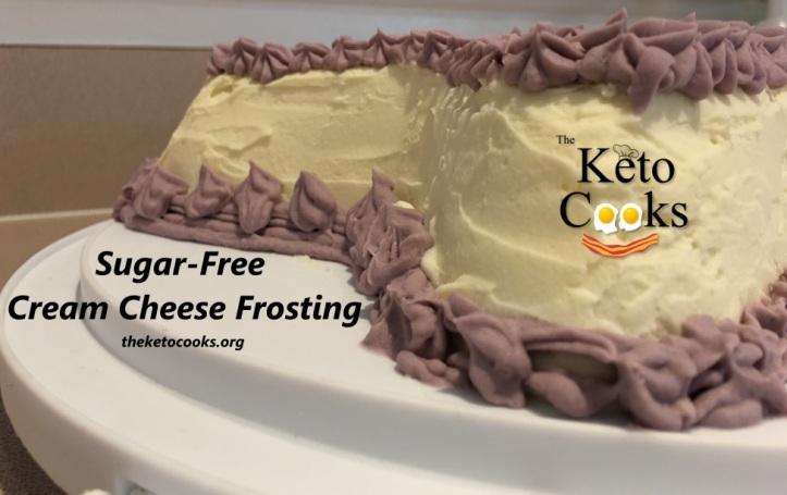 Keto Cake Recipe Vanilla: Sugar Free Cream Cheese Frosting